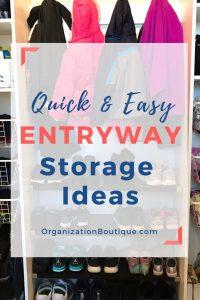 Mudroom storage ideas - Quick & easy entryway storage ideas